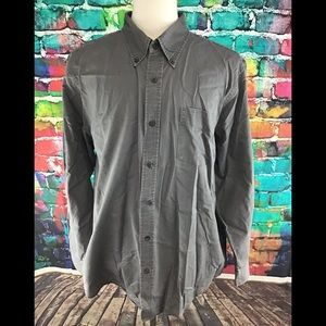 Basic Editions Button Front Grey Shirt Size XL